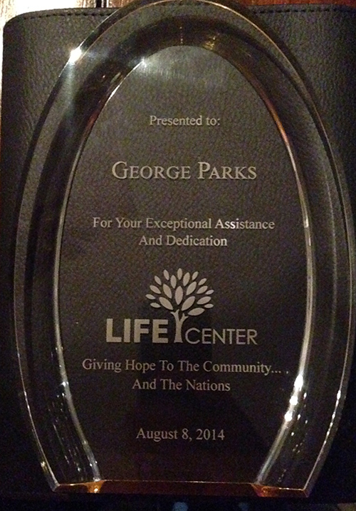 orange county painting contractor lifecenter service award